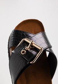 ONLY SHOES - ONLMATHILDA SLIP ON - Slippers - black - 2