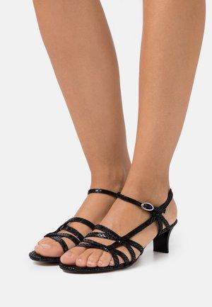 BIRKIN SNAKE - Sandals - black