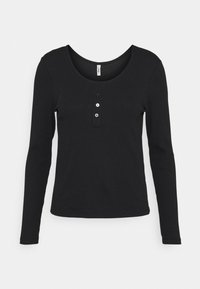 ONLY - ONLSIMPLE LIFE BUTTON - Long sleeved top - black - 3