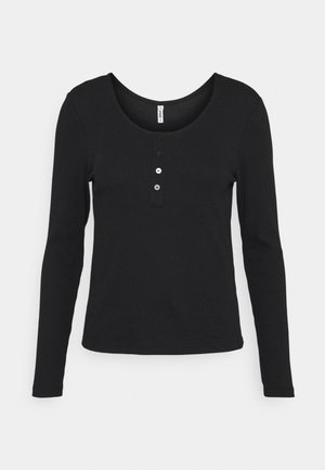 ONLSIMPLE LIFE BUTTON - Langarmshirt - black