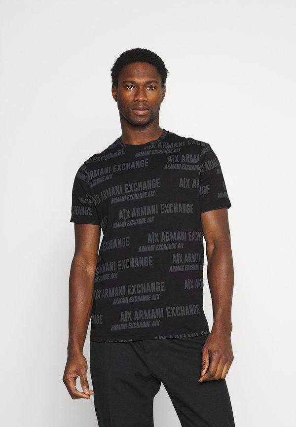 Armani Exchange T-shirt z nadrukiem - black/czarny Odzież Męska RRPV