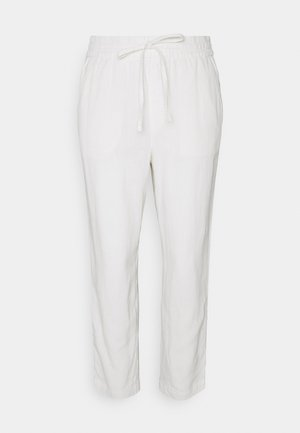 EASY PANT SOLID - Trousers - white