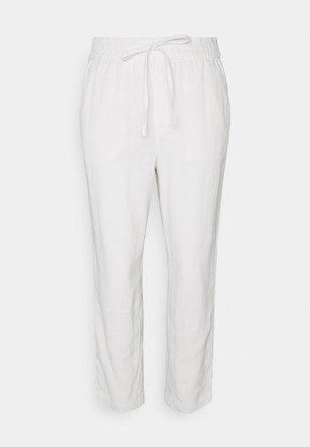 EASY PANT SOLID - Tygbyxor - white