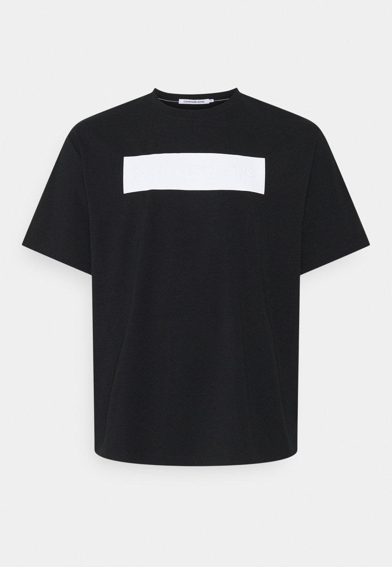 Calvin Klein Jeans Plus - BLOCKING LOGO TEE - Print T-shirt - black