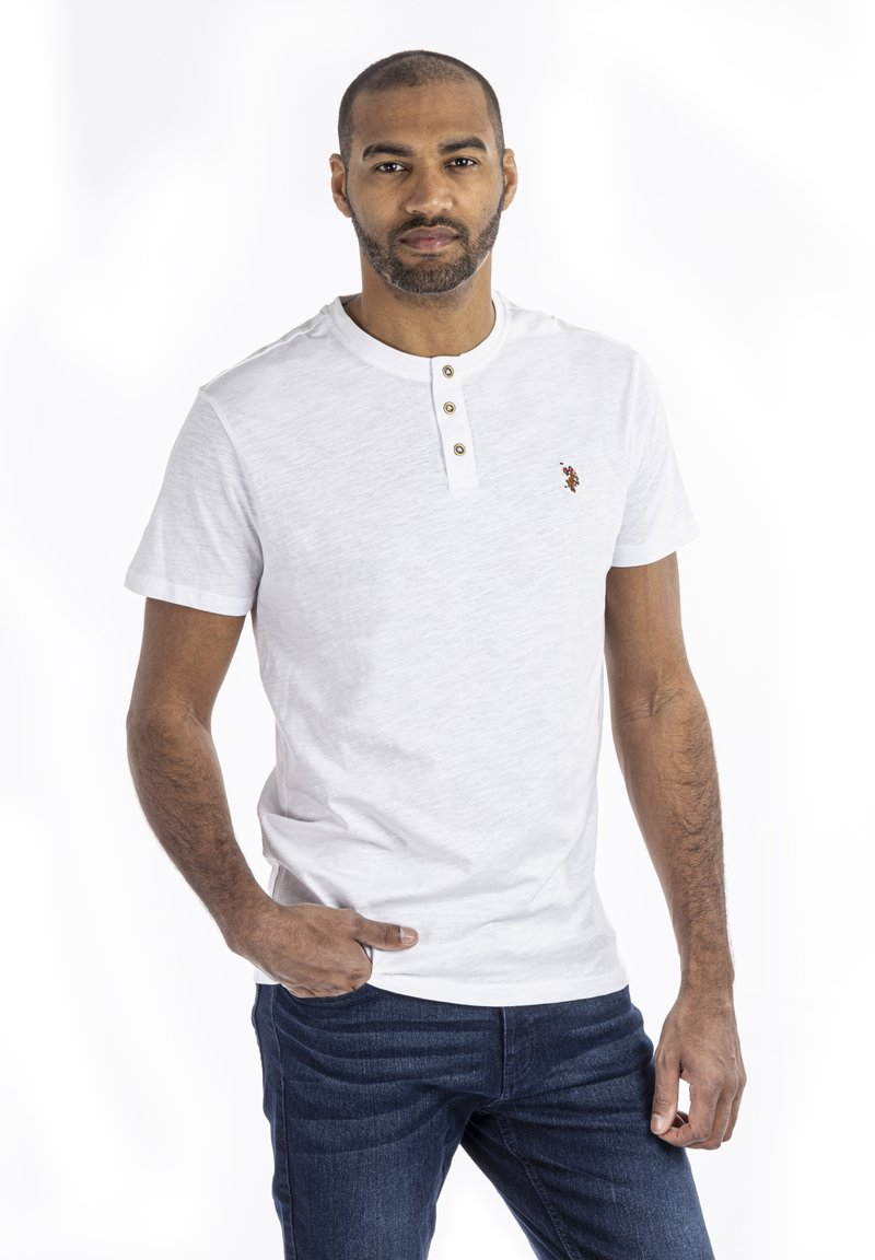 U.S. Polo Assn. - BARKER - T-shirt - bas - white