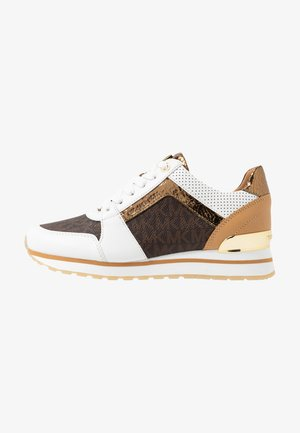 BILLIE TRAINER - Matalavartiset tennarit - optic white/brown