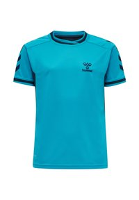 Hummel - HMLACTION POLY JERSEY S/S KIDS - Print T-shirt - atomic blue/black iris - 3