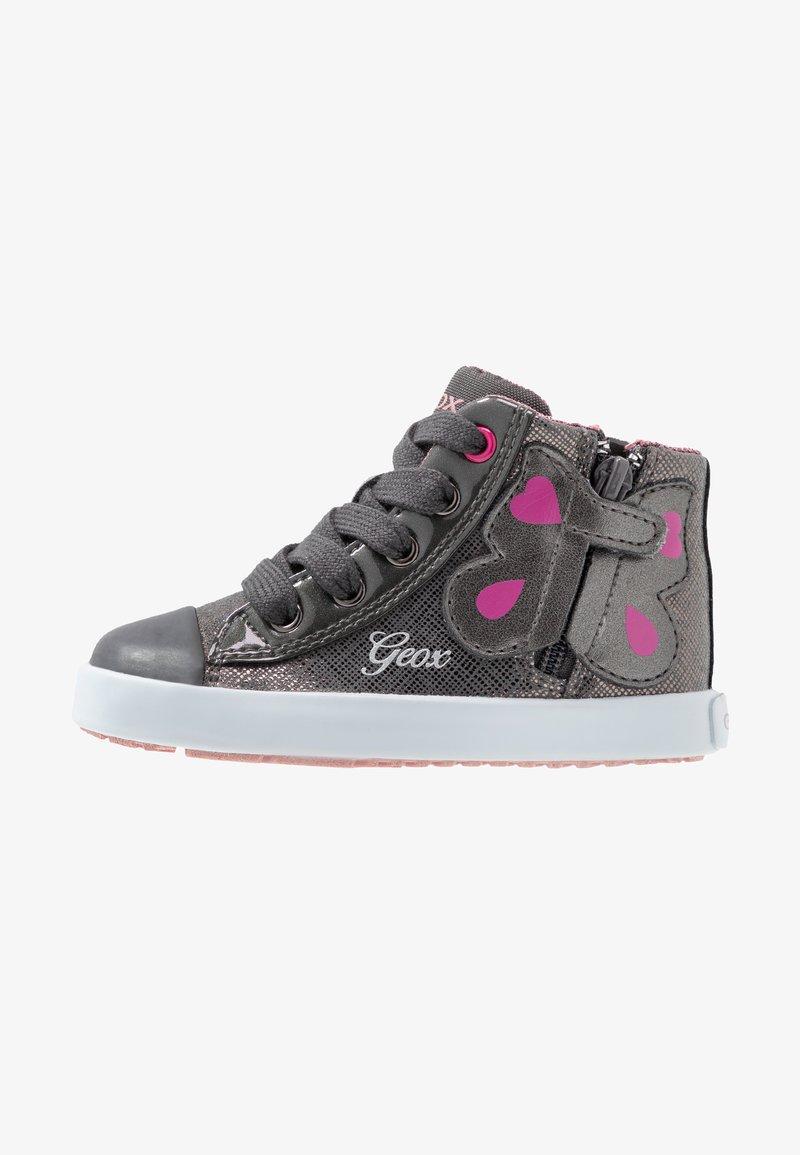 Geox - KILWI GIRLI - Sneakersy wysokie - dark grey