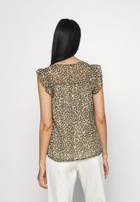 ONLY - ONLMARGUERITE CAPSLEEVE  - T-shirt med print - pumice stone - 2