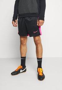 Nike Performance - DRY ACADEMY SHORT  - kurze Sporthose - black/hyper pink - 0