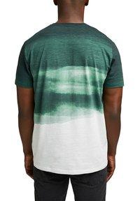 Esprit - FASHION SLUB - Print T-shirt - teal green - 2