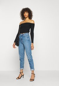 Missguided Tall - SQUARE NECK CROPPED JUMPER - Jumper - black - 1