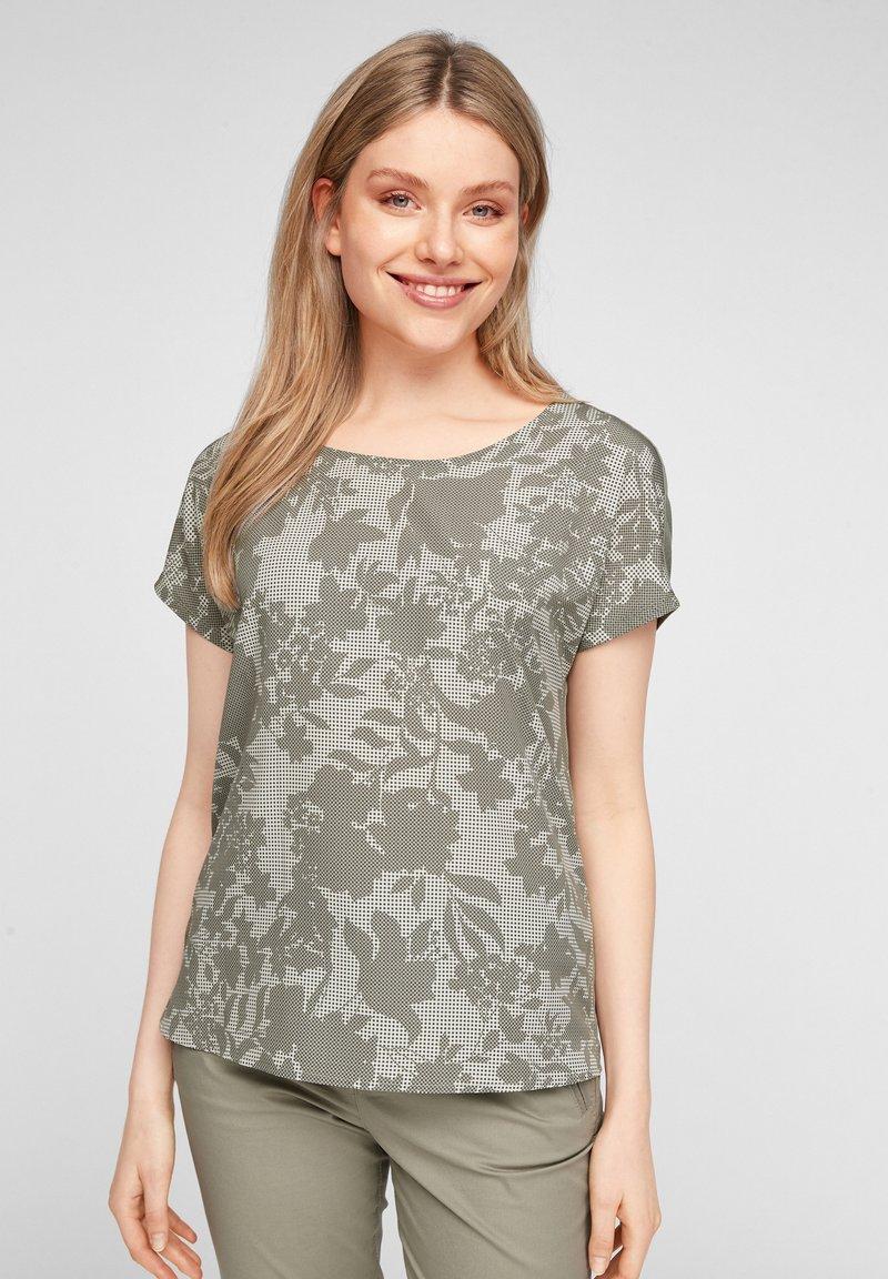 s.Oliver - T-shirt imprimé - khaki aop