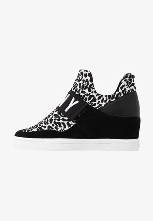 COSMOS WEDGE - High-top trainers - white/black
