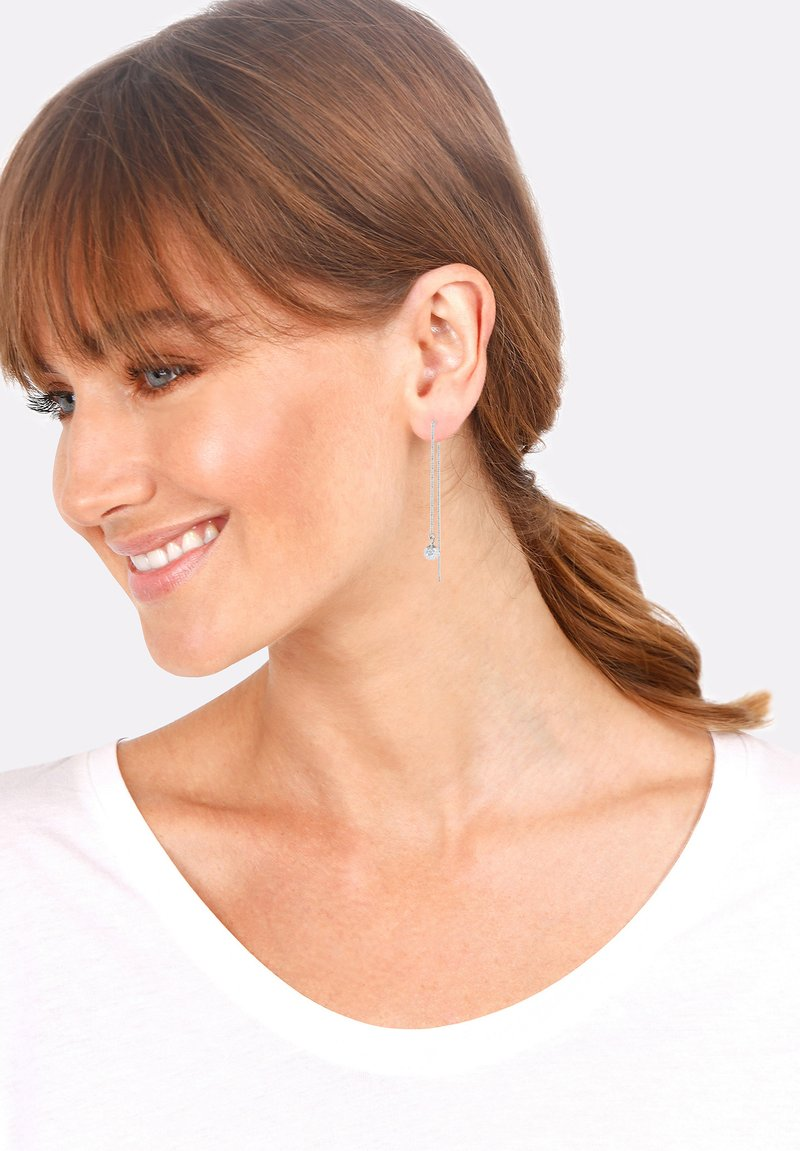 Elli - GLASS CRYSTAL - Earrings - silver-coloured