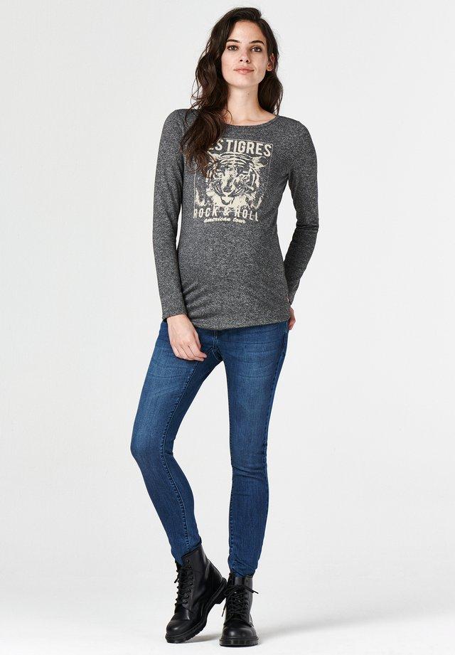 TIGRES - Long sleeved top - dark grey melange