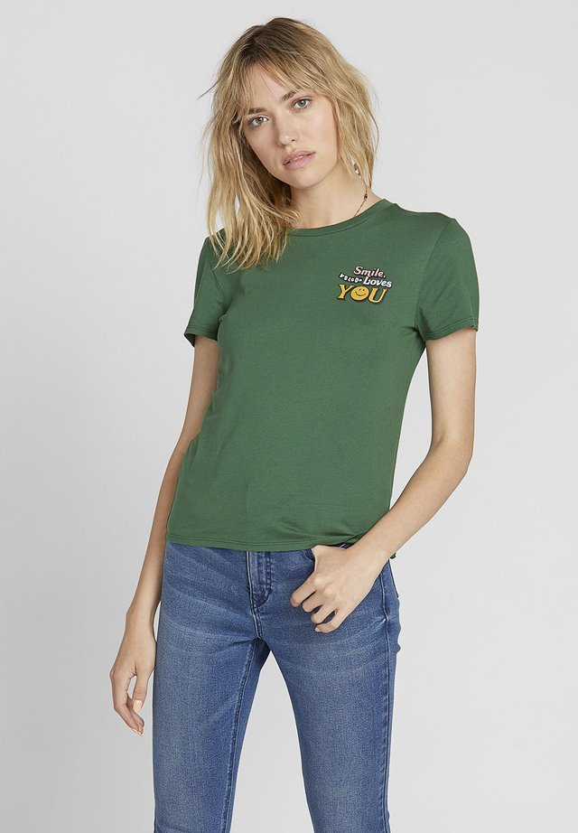 T-shirt con stampa - green