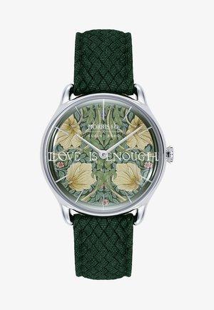 UHR MORRIS & CO SILVER GREEN PERLON 30MM - Watch - fennel