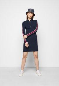 MICHAEL Michael Kors - LOGO TAPE SPLIT HEM DRESS - Shift dress - midnightblue - 1