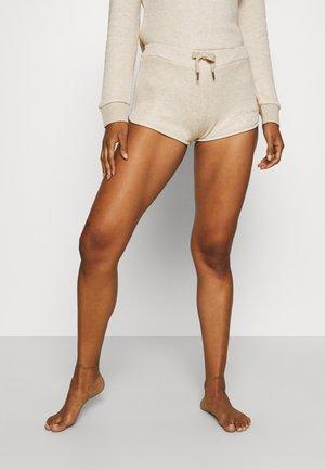 SHORT PANT - Pyjama bottoms - light brown melange