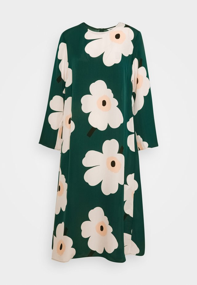 HILBERTTI JUHLAUNIKKO DRESS - Day dress - beige/dark green