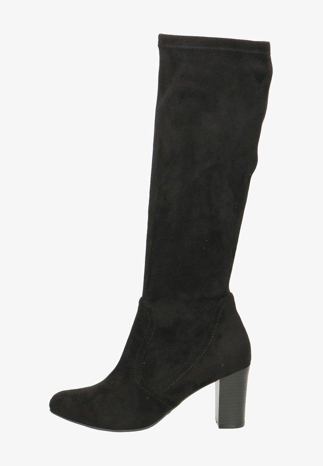 Laarzen met hoge hak - black stretch