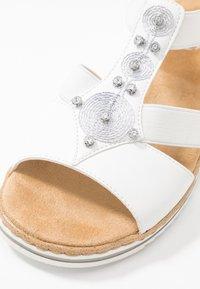 Rieker - Platform sandals - weiß - 2