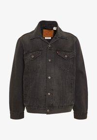 VINTAGE FIT TRUCKER UNISEX - Denim jacket - black
