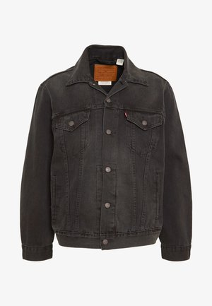 VINTAGE FIT TRUCKER UNISEX - Denim jacket - black