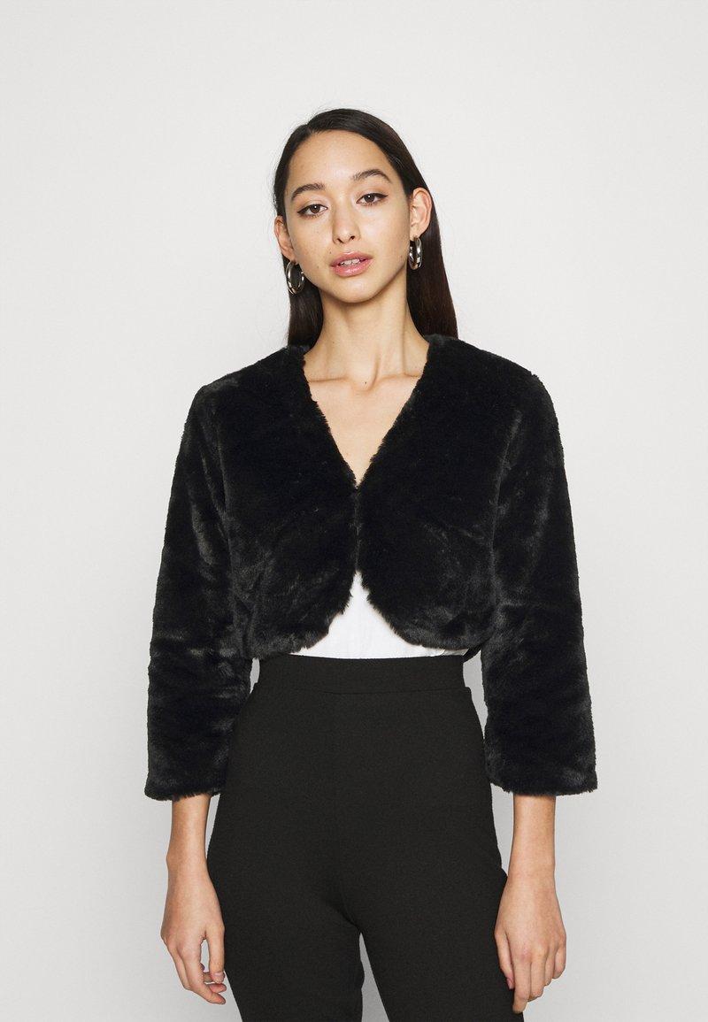 JDY - JDYVALA 3/4 BOLERO  - Light jacket - black