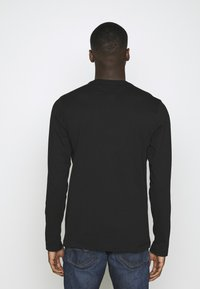 Tommy Jeans - LONGSLEEVE CORP - Long sleeved top - black - 2