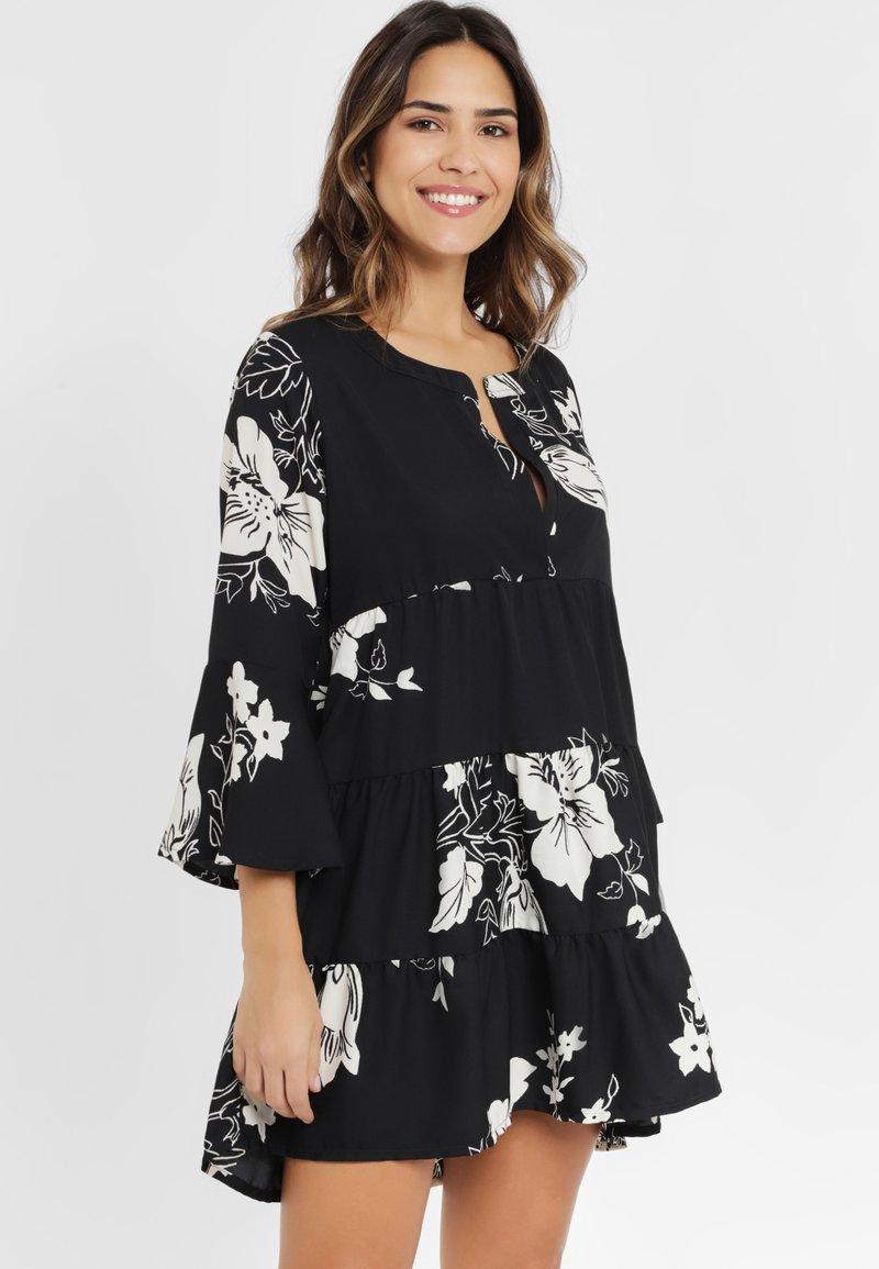 LASCANA - Shirt dress - black/cream