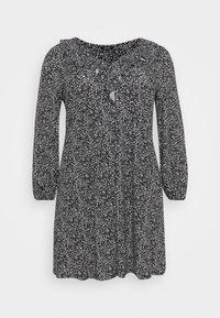 V NECK MONO DRESS - Jersey dress - black