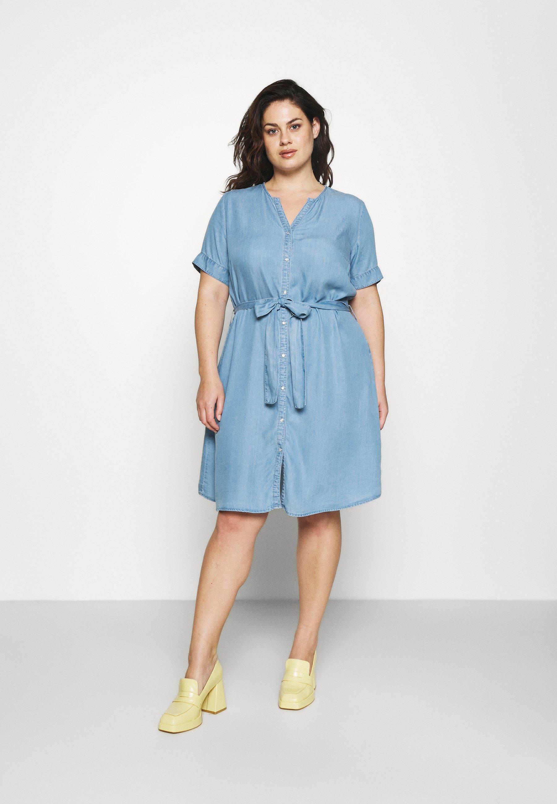 Women CARLILI LIFE KNEE DRESS - Denim dress