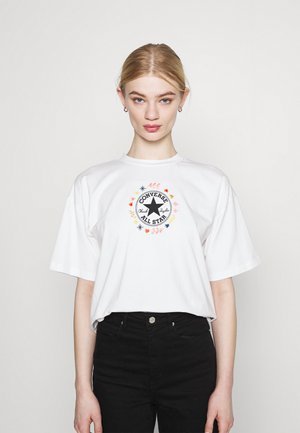 CHUCK WOMENS WANDER BOXY TEE - T-shirt con stampa - egret