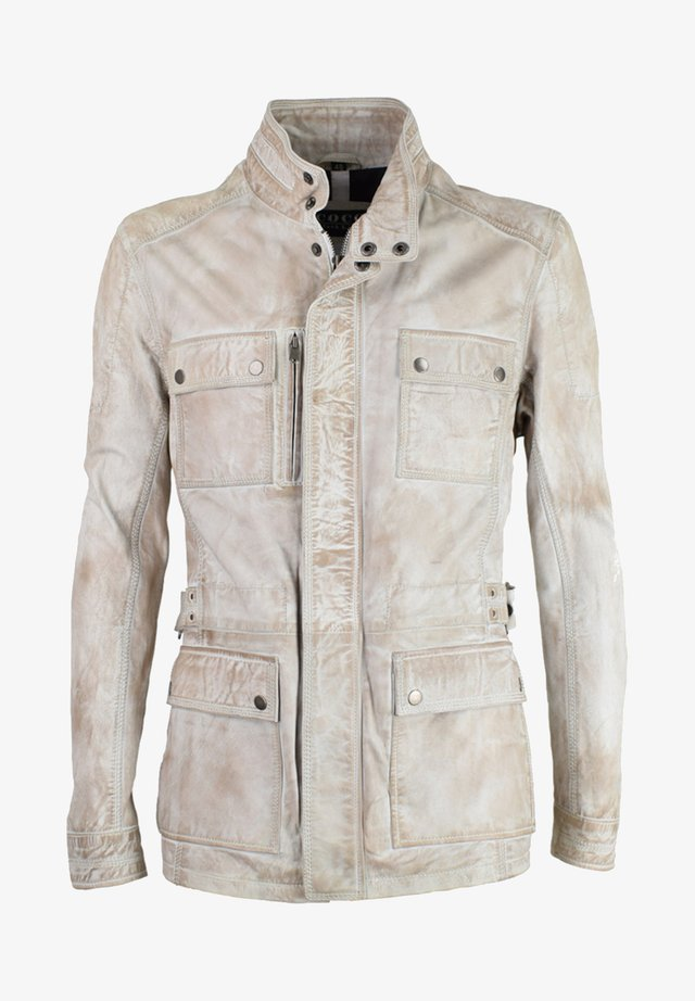 TROOPER - Leather jacket - crushed beige