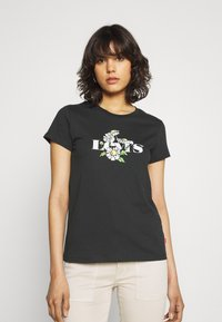 Levi's® - THE PERFECT TEE - T-shirt z nadrukiem - caviar - 0