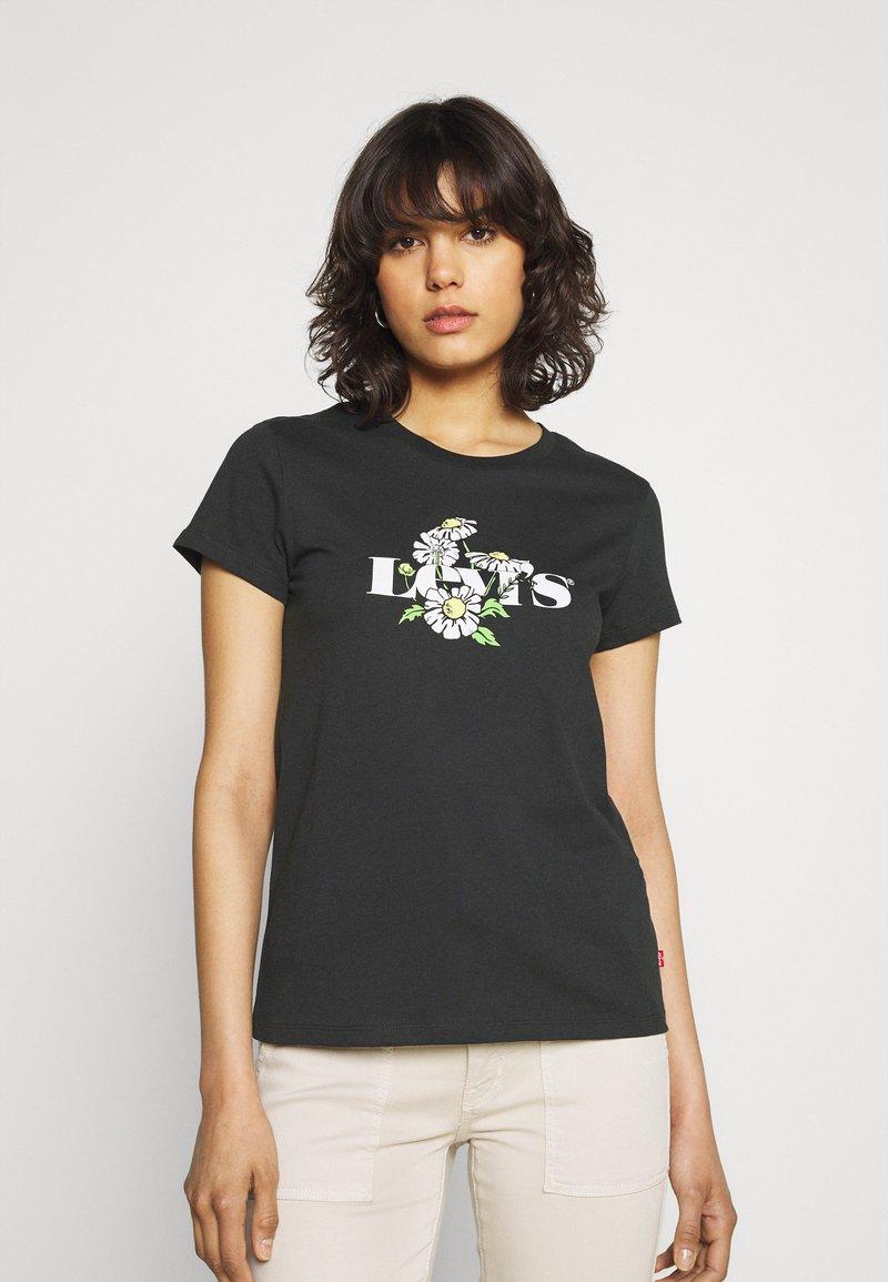 Levi's® - THE PERFECT TEE - T-shirt z nadrukiem - caviar