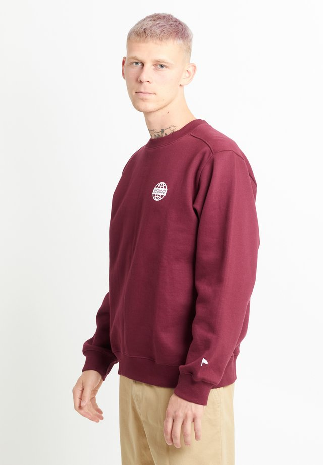 WORLD CREW - Sweatshirt - burgundy
