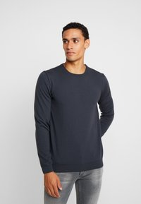 BY GARMENT MAKERS - THE MERINO KNIT ORGANIC - Strickpullover - grey - 0