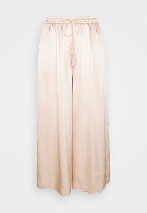 WIDE LEG TROUSERS - Kalhoty - stone