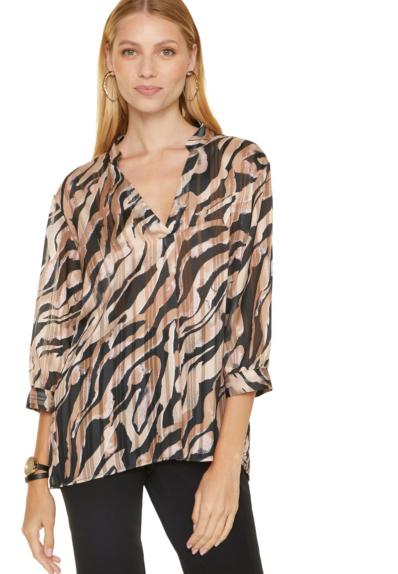 comma - Blouse - black zebra lines