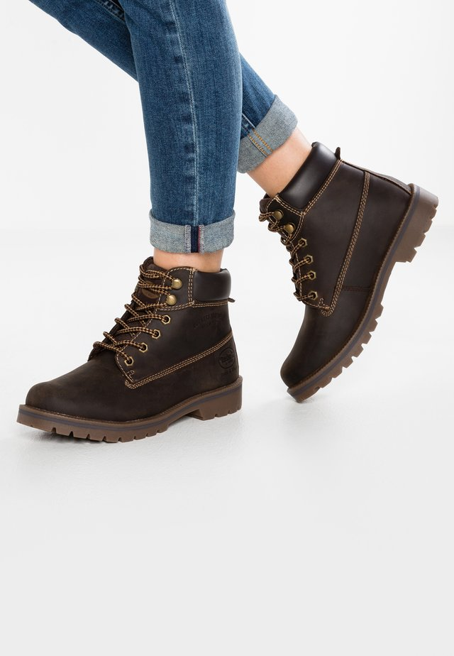 Lace-up ankle boots - choco