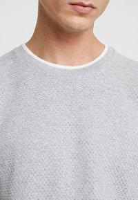 Topman - TEXT CREW - T-shirt - bas - light grey - 5