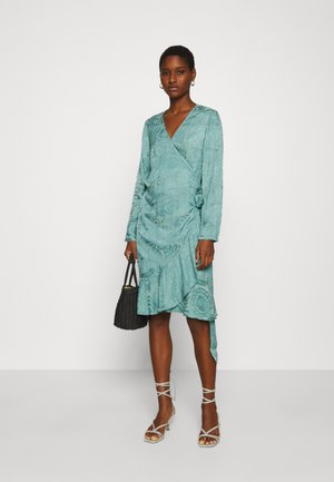ADELIA WRAP DRESS - Day dress - oil blue