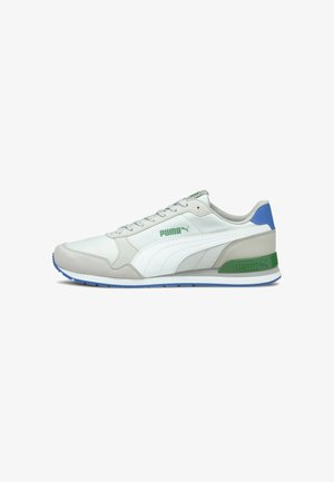 Trainers - gray v-white-a green-royal