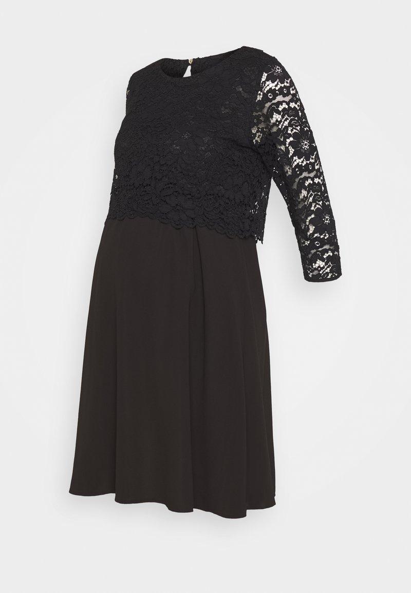 Attesa Maternity - CORTO - Vestito elegante - black