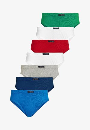 SEVEN PACK - Briefs - red/mottled grey/blue