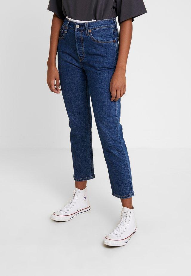 501® CROP - Jeansy Straight Leg - charleston vision