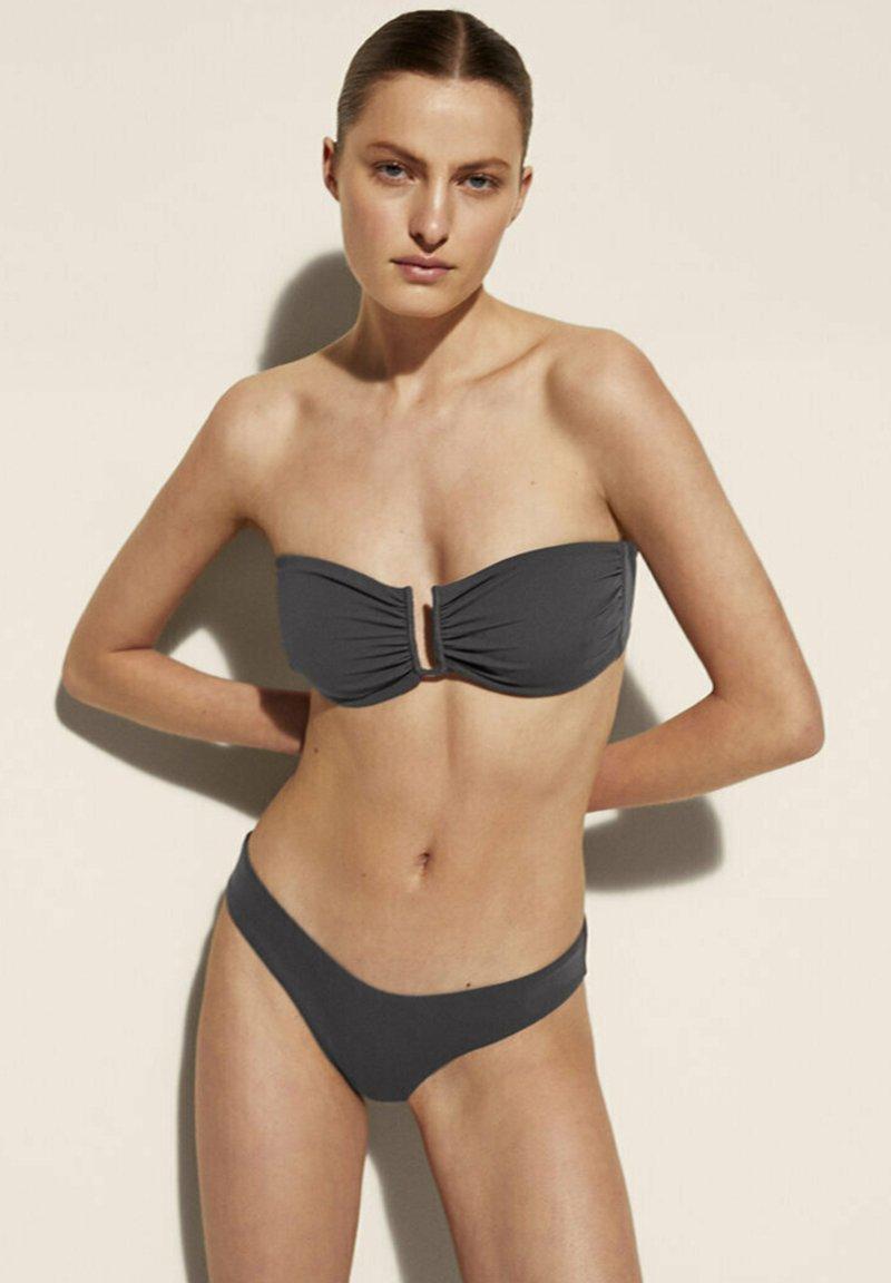 Massimo Dutti - Bikini top - dark blue